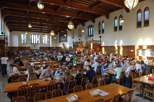 Image result for dining hall notre dame
