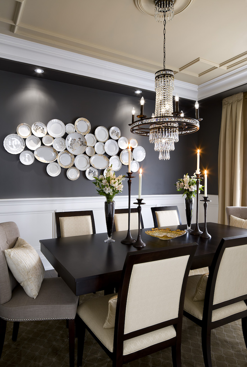 Top 25 of Amazing Modern Dining Table Decorating Ideas to ... on Living Room Wall Sconce Ideas For Dining Area id=52408