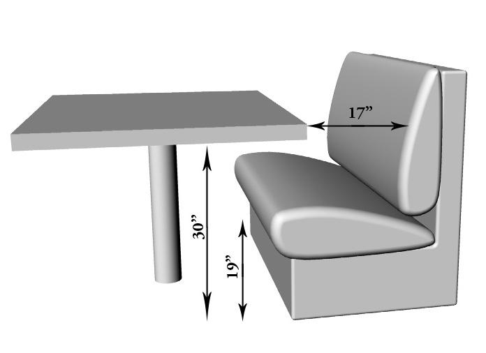 table measurements - Custom Tables
