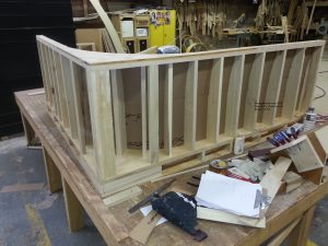 dining booth L construction.1 300x225 - How Built/Warranty
