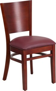 mahogany wooden chair burgundy vinyl 99 187x300 - Chairs