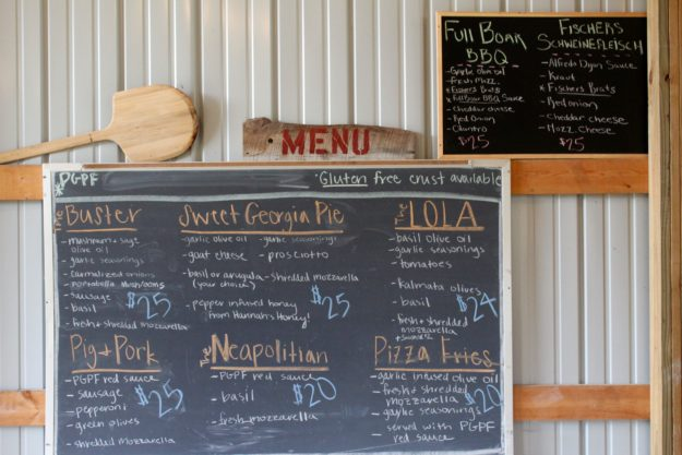 Menu at Pleasant Grove Pizza Farm