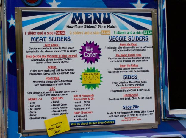 Slide Food Truck Menu