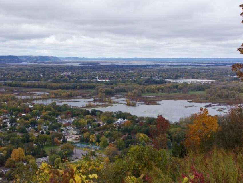 Granddad Bluff WI offers spectacular fall colors