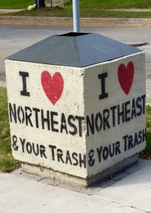 I Heart NE Mpls Garbage Can