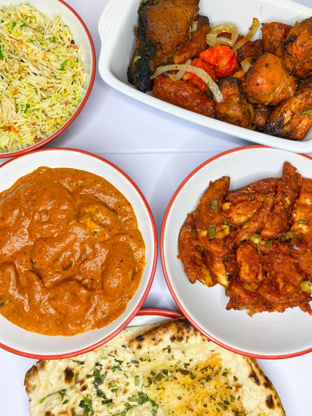 A feast of Indian food from Soho Tavern, Birmingham.