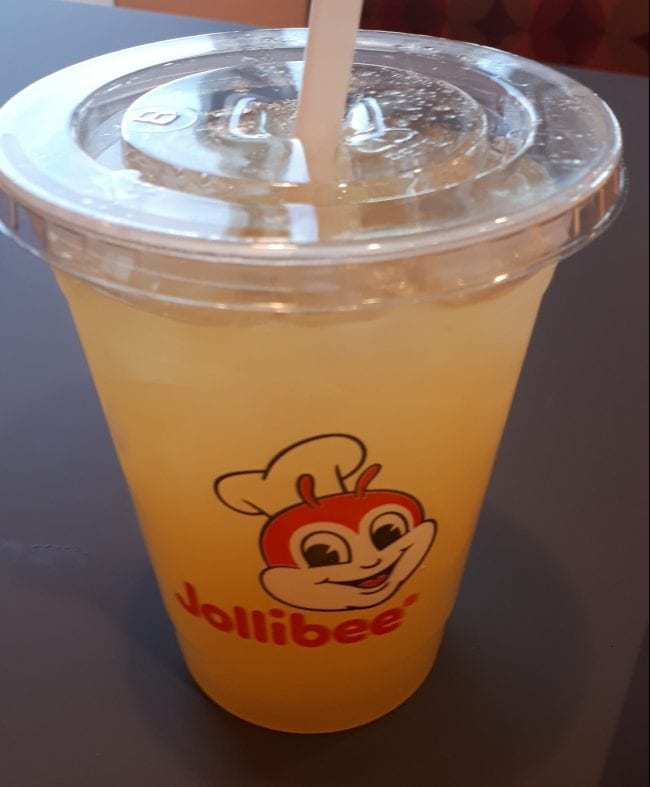 Jollibee pineapple juice