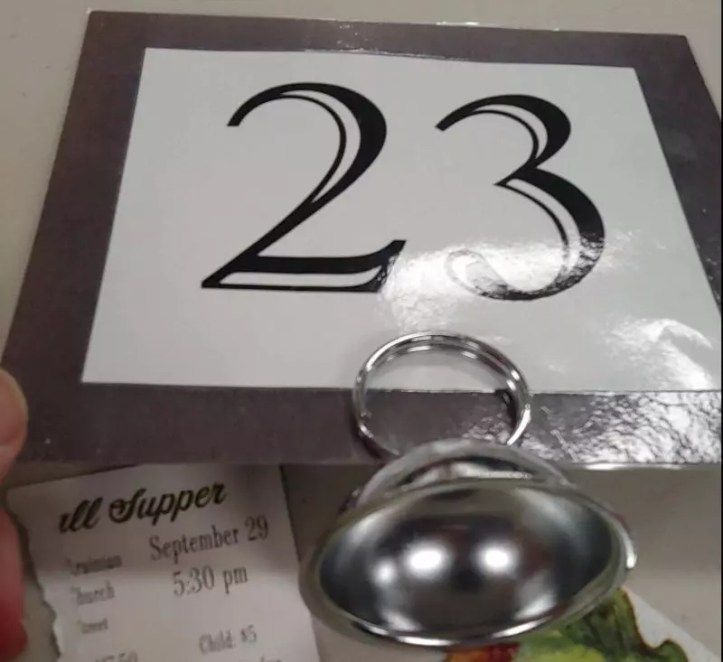 St Anne table number