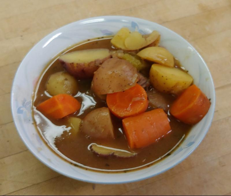 A bowl of Irish stew