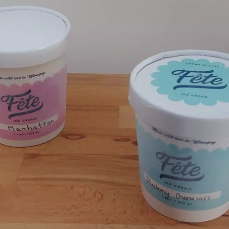 Fête Ice cream containers