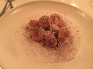 Choux: caramel, porcini and brown butter
