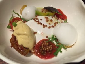 Tomato, mustard and lovage