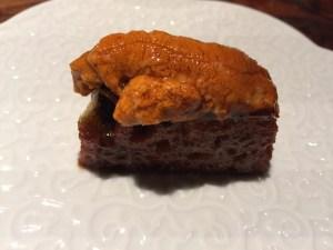 Sea urchin and liquid toast