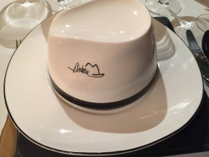 top of the hat is a separate bowl