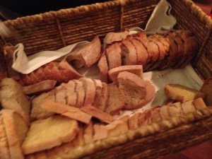 Passed bread basket - corn, sour dough, rye