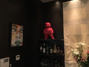 decoration in downstairs bar area