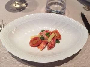 Nova Scotia lobster, burrata, eggplant, basil