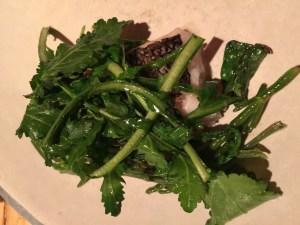black bass, sea beans, lemon and shepherd's purse (greens)