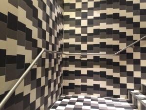 wild tile on staircase