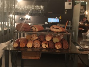 bread cart for cheese course