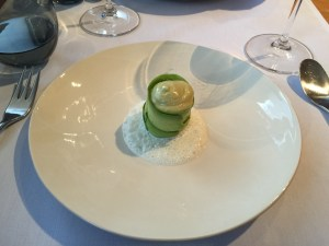 Dorset crab, avocado, pistachio, mild curry foam