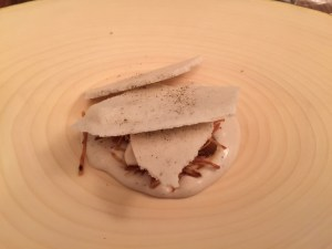 Chestnut cream and meringue
