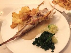 Adriatic Monkfish wrapped in pancetta,