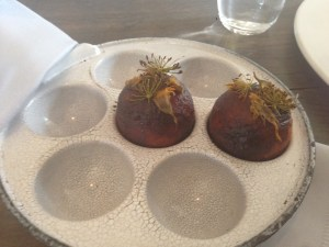 Æbleskiver, lovage and parsley