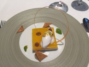 Exotic Mont Blanc, crispy chestnut paste