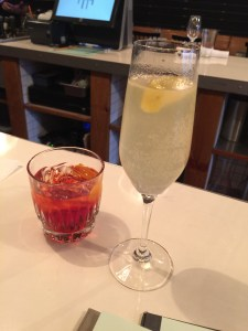 Cocktails: Negroni and French 75