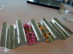 flower garnish presentation