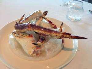 Crab presentation
