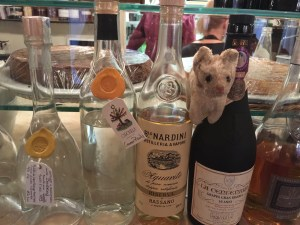 Frankie checked out the grappa selection