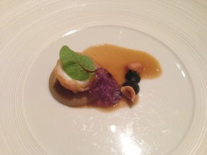Sole with chestnut puree, truffle and hazelnut