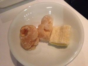 Fried pork rind to go with carbonara