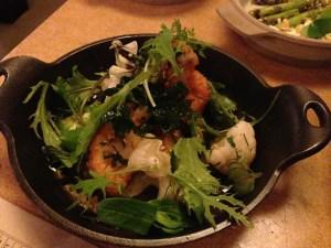 Spicy fried cauliflower with bayley hazen blue cheese