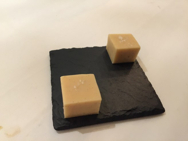 Salted vanilla fudge