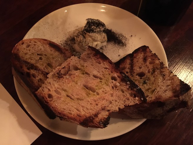 Bread and burnt onion butter