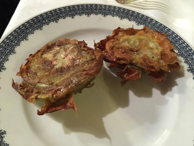 Artichokes Jewish style (fried artichokes)