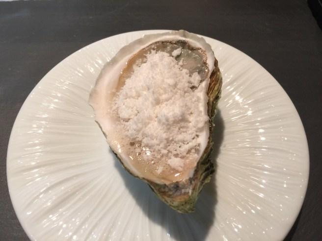 Wianno oyster with dill, honey, vinegar and horseradish