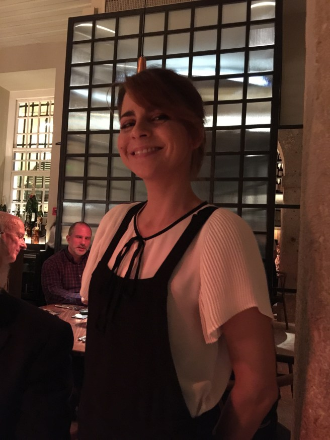 Marta, our fine waitress