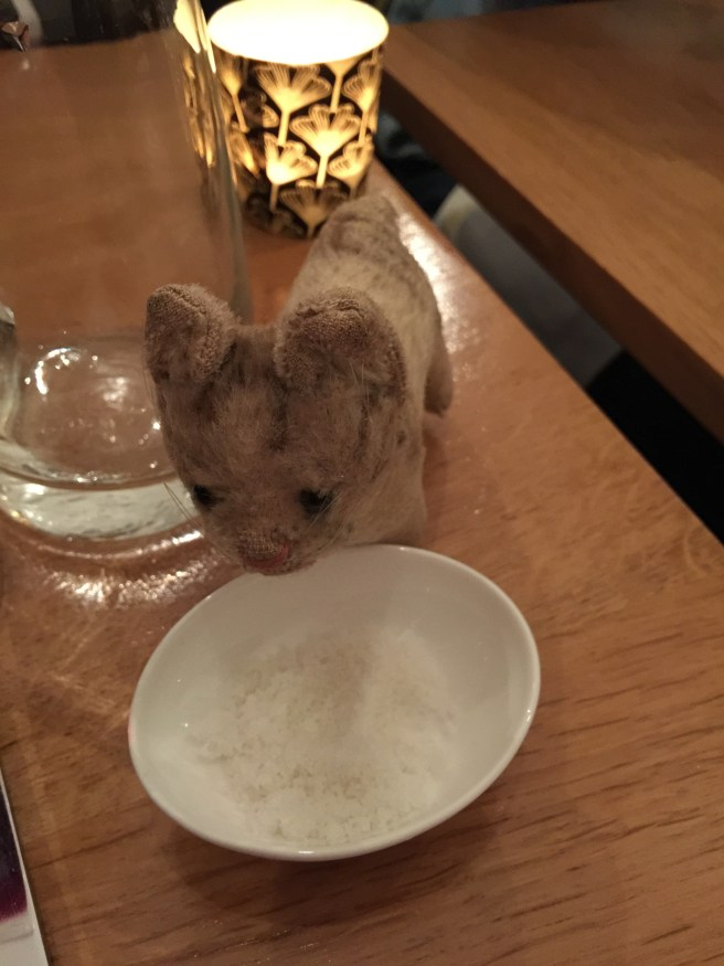 Frankie thought it was nice to have salt on the table