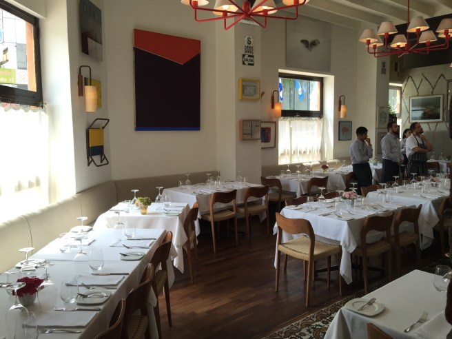 dining room, before they opened