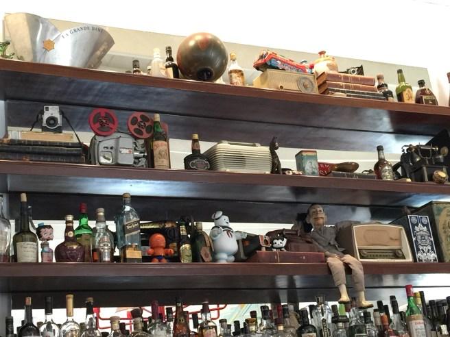 shelf full of interesting stuff