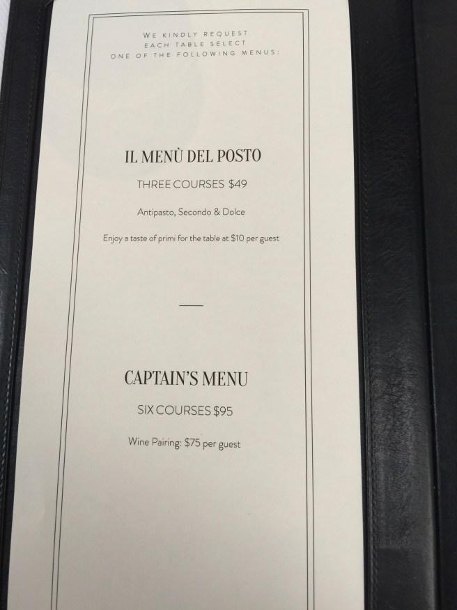 lunch tasting menus