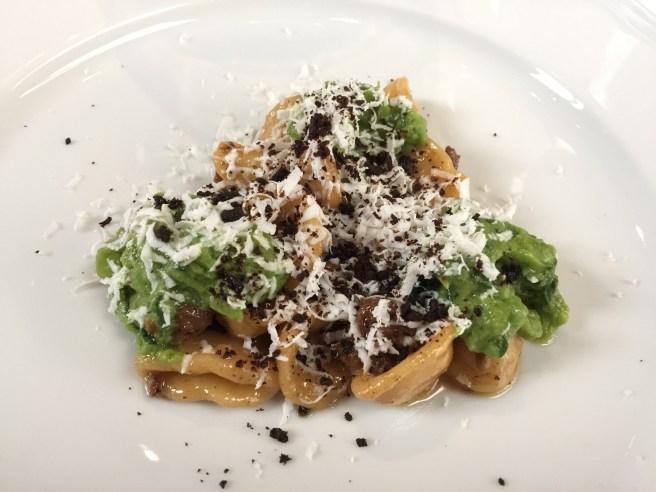 Orecchiette: Lamb Neck Sausage, Broccoli Rabe, Ricotta Salata & Crispy Porcini