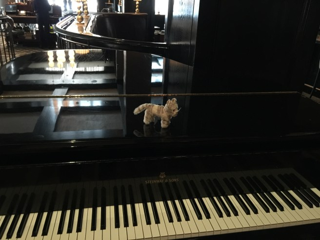 Frankie thought she'd play piano for us