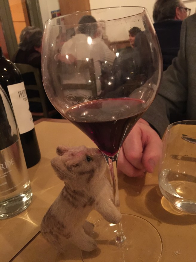 Frankie liked the wine