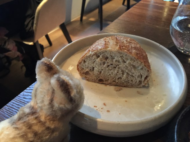 Frankie inspected the bread