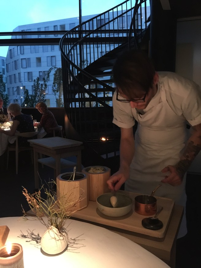 brown butter ice cream dished tableside